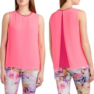 TED BAKER London Alys Contract Top Mid Pink Sz 0